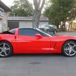 Red Corvette Before